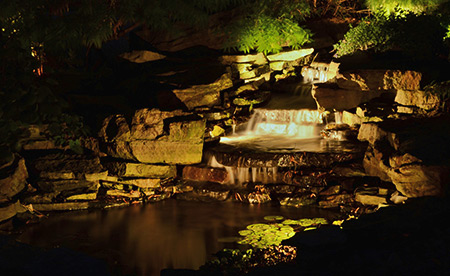 landscape pond lighting