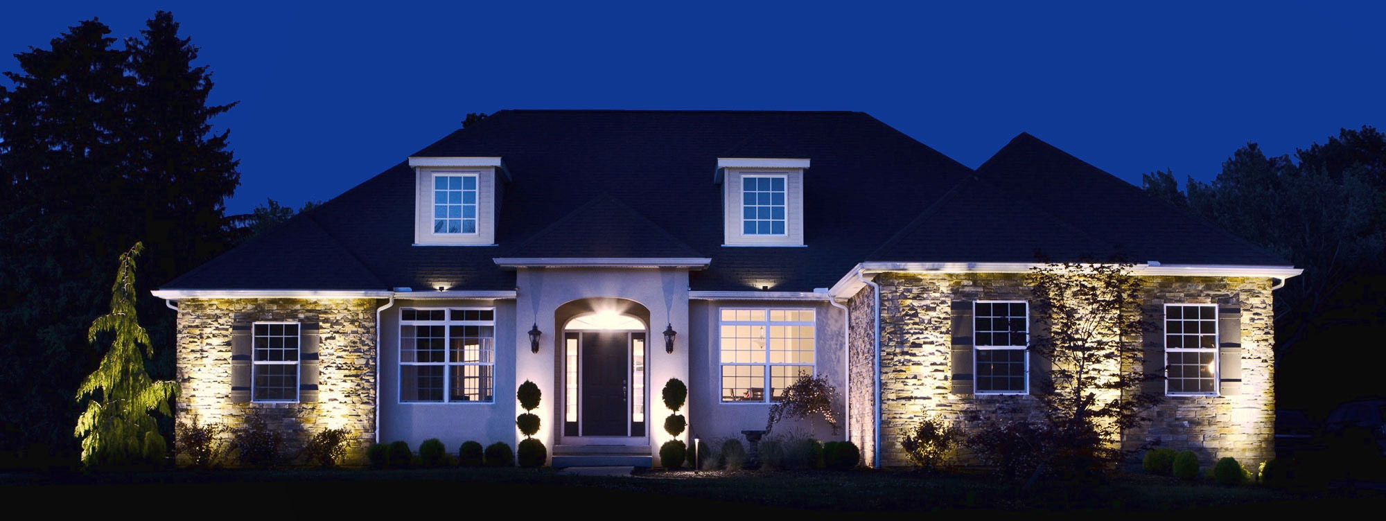 Starry night lighting landscape lighting company in for Beautiful home lighting