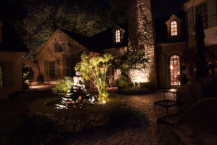 landscape and patio lighting